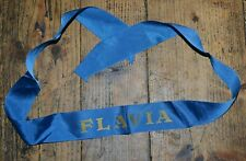 More details for rare vintage t/s flavia cruise liner light blue cap tally 37cm long