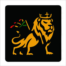 Sticker Car Decal Rasta Reggae JAH Macbook Lion of Judah One Love Rastafarai R14
