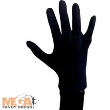 Black Cotton Gloves Mens Fancy Dress Halloween Vampire Adult Costume Accessory