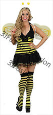 Adults Womens Sexy Bumble Bee Sexy Hen Night Party Fancy Dress Costume FREE POST