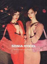 Publicité 2010  SONIA RYKIEL sac a main
