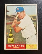 RON SANTO 1961 TOPPS ALL-STAR ROOKIE #35 CHICAGO CUBS HOF VG/EX