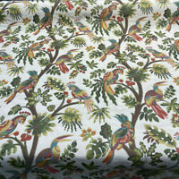 For the Birds Carnival Mill Creek Jacquard Upholstery Backed Fabric By The Yard