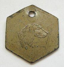 h251 Serbia Hungary Romania * Torontal district * 1914 dog tag license rare