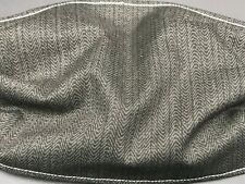 Reusable Washable Face Mask Cover Solid Charcoal String Black Handmade Amish