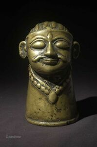 Antique Shiva Mukalingam bronze from Maharashtra, India 18th century
