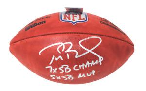 Tom Brady Patriots Buccaneers Signed Football 7x SB Champ/5x SB MVP Fanatics