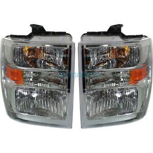 NEW LH & RH HEAD LIGHT FITS 08-17 FORD E-350 SUPER DUTY FO2502249 FO2503249