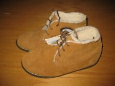 NWT Janie and Jack Bear Cabin size 13 Brown Tan Leather Sherpa Lined Boots Shoes