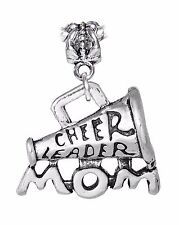 Cheer Leader Mom Cheerleader Cheerleading Megaphone Bead for Euro Charm Bracelet