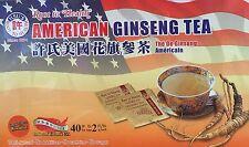 Hsu's Ginseng American Ginseng Tea 40 Teabag / Box