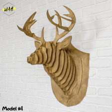 Wooden Deer Head, Wooden Animal, Wall Wooden decor, head Deer, Wall Decor
