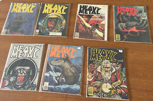 Heavy Metal Magazine 1977 (7) Issues Total- May, June, July, Aug, Sept, Nov Dec