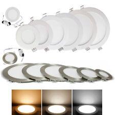LED Panel 3W bis 24W Einbaustrahler Dimmbar Ultraslim Rund Leuchte Silber & Weiß