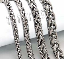 3mm 9 Inch Stainless Steel Wheat Chain Bracelet Quality Bracelets 3mm B11