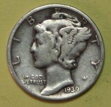 1939-D or 1940-D or 1941-D US Mercury silver Dimes - Price per Each Coin