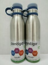 2 CONTIGO STAINLESS STEEL THERMALOCK WATER BOTTLE VACUUM INSULATED - NT 5208