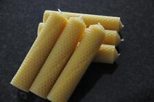 6 x Bougies de Cire D'abeille L 100 % 140 32mm Fait à la main en d