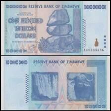 "100 Trillion Dollar Zimbabwe Banknote - AA Uncirculated ""Free OZ Shipping"""
