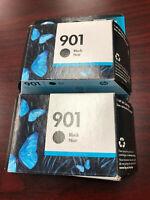 2PK New Genuine HP 901 Black Ink Cartridges SEALED OEM Box EXP Dec 2017 or later