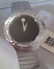 New Men's Movado SE  black 0604458 1.00ct.aprx.custom set real Diamond watch