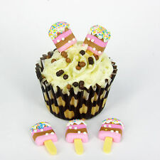 6 x gelato in plastica per cupcake topper Card Making Cake Decorazione CT1