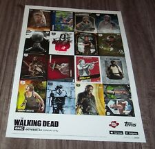 TOPPS THE WALKING DEAD NYCC EXCLUSIVE UNCUT SHEET OF CARDS PROMO POSTER ART