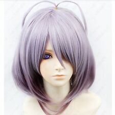 Amnesia ORION Cosplay Costume short purple mix Wig free shipping