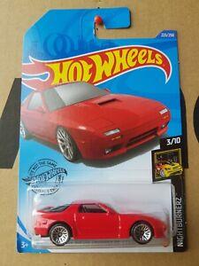 Hotwheels 2020 - '89 Mazda Savanna RX7 [FC3S] RED NEAR MINT VHTF BRAND NEW CASE