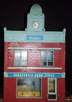 Vintage Journal / Vanderbeck Drug Store / Railroad Model HO Building Train RR