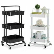 Salon Hairdresser Barber Hair Storage Trolley Beauty Drawer Spa Cart Steel Racks