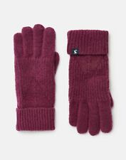 Joules Womens Thurley Knitted Gloves - Plum - One Size