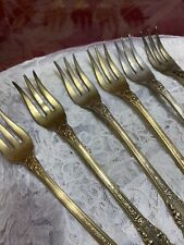 New listing Wallace. sterling (7) cocktail forks gold vermeil Sir Christopher