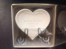 Believe: porcelain heart with stand Angelica Seasons of Cannon Falls