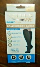 Copper Fit Energy Plus Compression Socks ~1 Pair of L/XL~ (M: 9-12/W: 10-13)