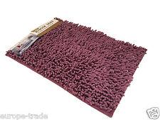Lavable Suave Shaggy Antideslizante absorbente Baño y habitación Mat ducha Alfombras púrpura