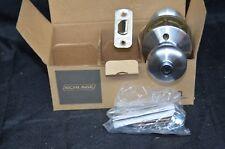 NOS Schlage  F40 PLY 626 BED & BATH Privacy Locking Set Door Knob Satin Chrome