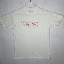 Vintage Say Yes T Shirt Medium Inspirational Motivational  70s 80s