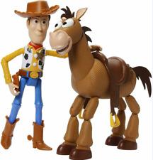 4Pcs Toy Story Woody & Bullseye Action Figure Cowboy Sheriff Horse Free Shipping