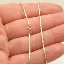 "10"" Twisted Rock Sparkle Chain Ankle Bracelet Anklet Real Solid 10K Yellow Gold"