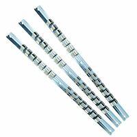 "3pc Socket Rail Set 1//2/"" 3//8/"" 1//4/"" Storage Holder Grip Organiser TE063"