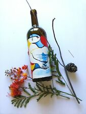 """Hand Acrylic painted wine bottles """"Dream"""" - a copy of Picasso ."""