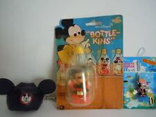 VINTAGE MICKEY MOUSE WALT DISNEY BOTTLEKINS KIDDLE LIKE+ HAT KEYCHAIN+ SCUBA LOT