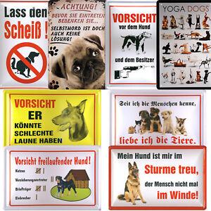 Blechschild lustige Schilder Wandschild 20x30cm Haustiere Hunde Schild Hobby Fun