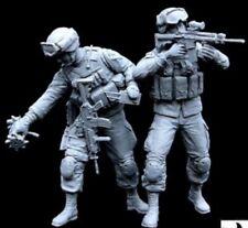 1/35 Scale resin model figures Kit moderne les soldats américains Équipe 1 (2 chiffres)