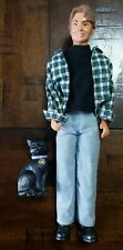 1997 Sabrina The Teenage Witch Harvey Kinkle Winking Doll w/ Salem the Black Cat