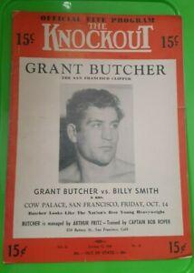"""The Knockout"" Boxing Program. 1949. Grant Butcher, Art Aragon, Milo Savage."