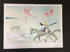 Don Quixote Warrior's Heard Fine Art Lithograph Salvador Dali S2