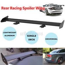 105cm Universal Black Lightweight Aluminum Rear 3D GT Wing Racing Spoiler Uk