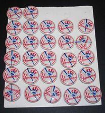 (27) 1950's New York NY Yankees Baseball Pinbacks Button Logo Bat & Hat, NOS